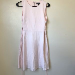 - Top shop fit and flare light pink blush dress